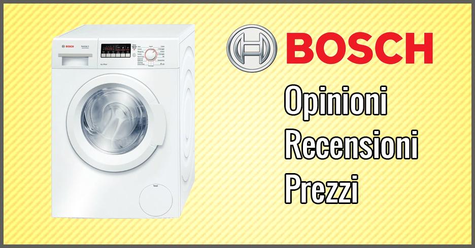 Lavatrici bosch opinioni recensioni prezzi giugno 2018 for Migliore lavatrice slim 2017